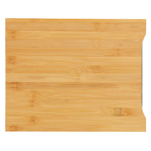 Cortesi Home Isabella Natural Bamboo Cutting Board With Removable Stainless Steel Tray, 13x10