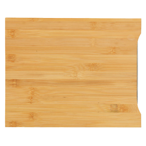 Image of Cortesi Home Isabella Natural Bamboo Cutting Board With Removable Stainless Steel Tray, 13x10