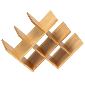 Cortesi Home Linda Natural Bamboo 8 Bottle Wine Rack