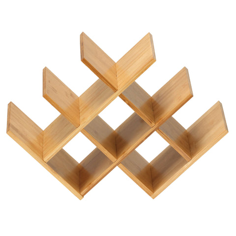 Image of Cortesi Home Linda Natural Bamboo 8 Bottle Wine Rack