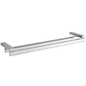 Enzo Contemporary Stainless Steel Double Towel Bar, Chrome