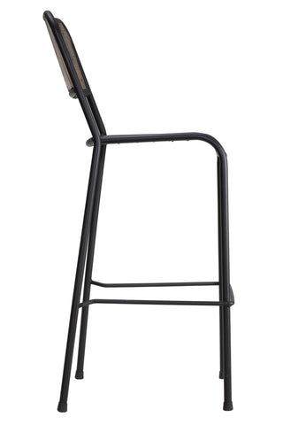 "Image of Cortesi Home Jayden 30"" Industrial Style Bar Stool with Black Metal Frame"