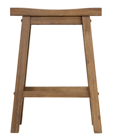 Image of Cortesi Home Emma Counter Height Barstool in Solid Wood