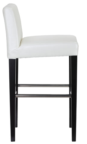 Cortesi Home Amsterdam Bar Stool with Back, White