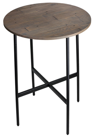 "Image of Cortesi Home Jayden 30"" Industrial Style Wood Bar Table, with Black Metal Frame"