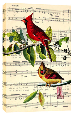 "Epic Graffiti ""The Cardinal Sings"" Giclee Canvas Wall Art, 12"" x 18"""