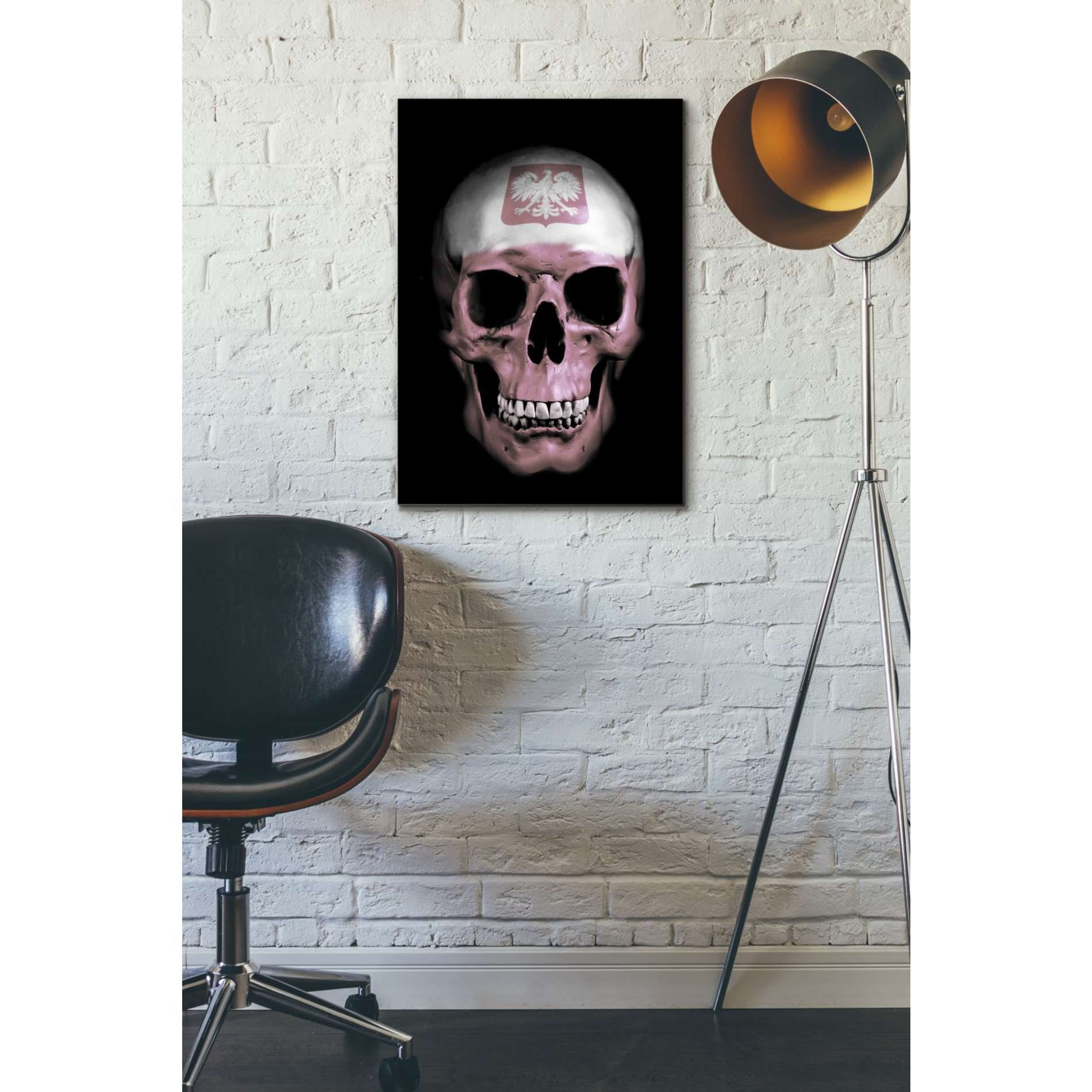 "Cortesi Home ""Polish Skull"" by Nicklas Gustafsson, Giclee Canvas Wall Art"