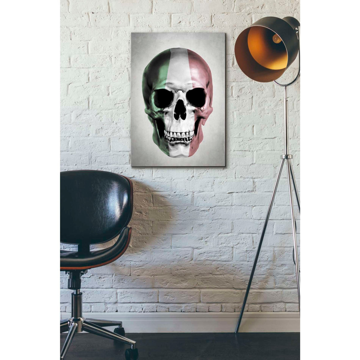 Cortesi Home 'Italian Skull Grey' by Nicklas Gustafsson, Canvas Wall Art,18 x 26