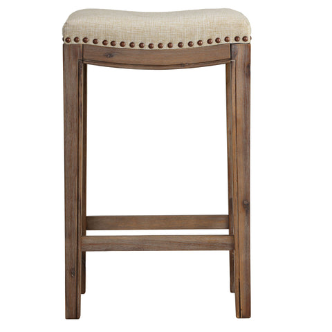 "Image of Cortesi Home Logan 24"" Counter stool, Beige Linen"