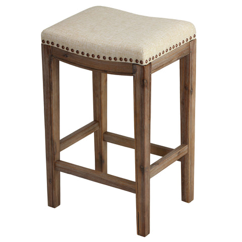 "Cortesi Home Logan 24"" Counter stool, Beige Linen"