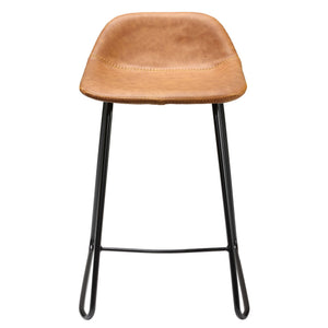 563911a6dcd ... Cortesi Home Ava Counterstools in Saddle Brown faux Leather (Set of 2)