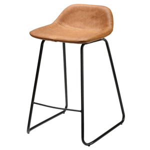 a9e6bc5e8ea Cortesi Home Ava Counterstools in Saddle Brown faux Leather (Set of 2) ...