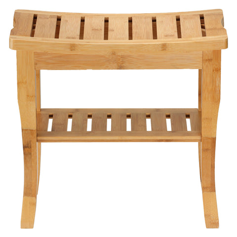 Image of Cortesi Home Mack Natural Bamboo Bench, Small