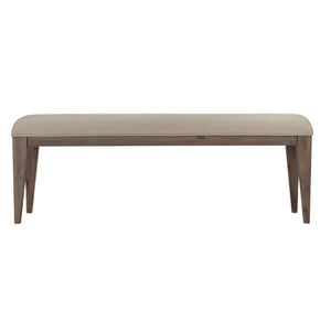 Cortesi Home Leno Bench with Neutral Linen Fabric