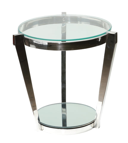 Cortesi Home Simba Double Shelf End Table, 20""