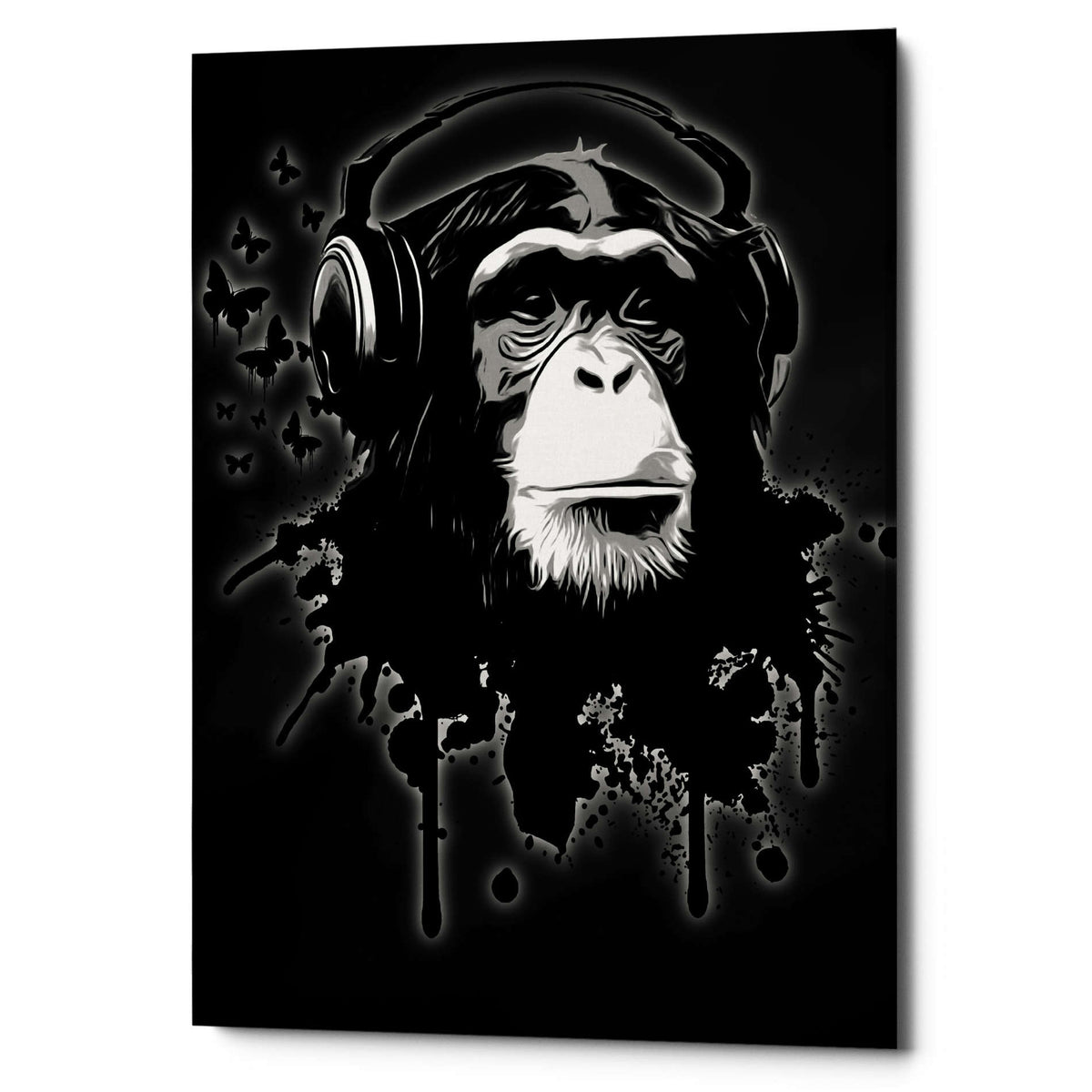 Cortesi Home 'Monkey Business Black' by Nicklas Gustafsson, Canvas Wall Art