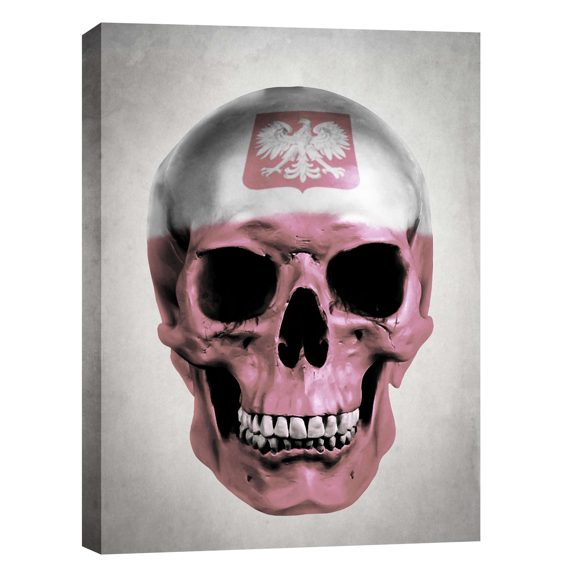 "Cortesi Home ""Polish Skull-Grey"" by Nicklas Gustafsson, Giclee Canvas Wall Art"