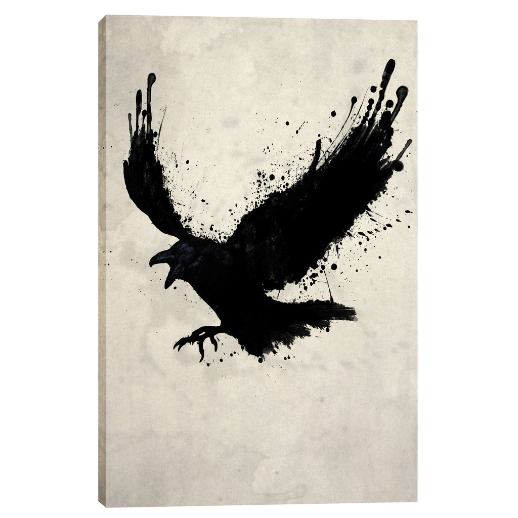 "Cortesi Home ""Raven"" by Nicklas Gustafsson, Giclee Canvas Wall Art"