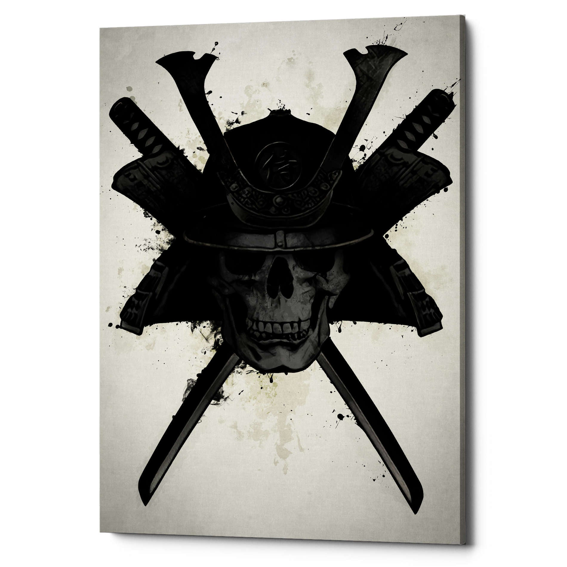 "Cortesi Home ""Samurai Skull"" by Nicklas Gustafsson, Giclee Canvas Wall Art"