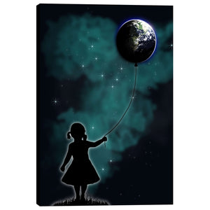 "Cortesi Home ""The Girl that Holds the World"" by Nicklas Gustafsson, Giclee Canvas Wall Art"