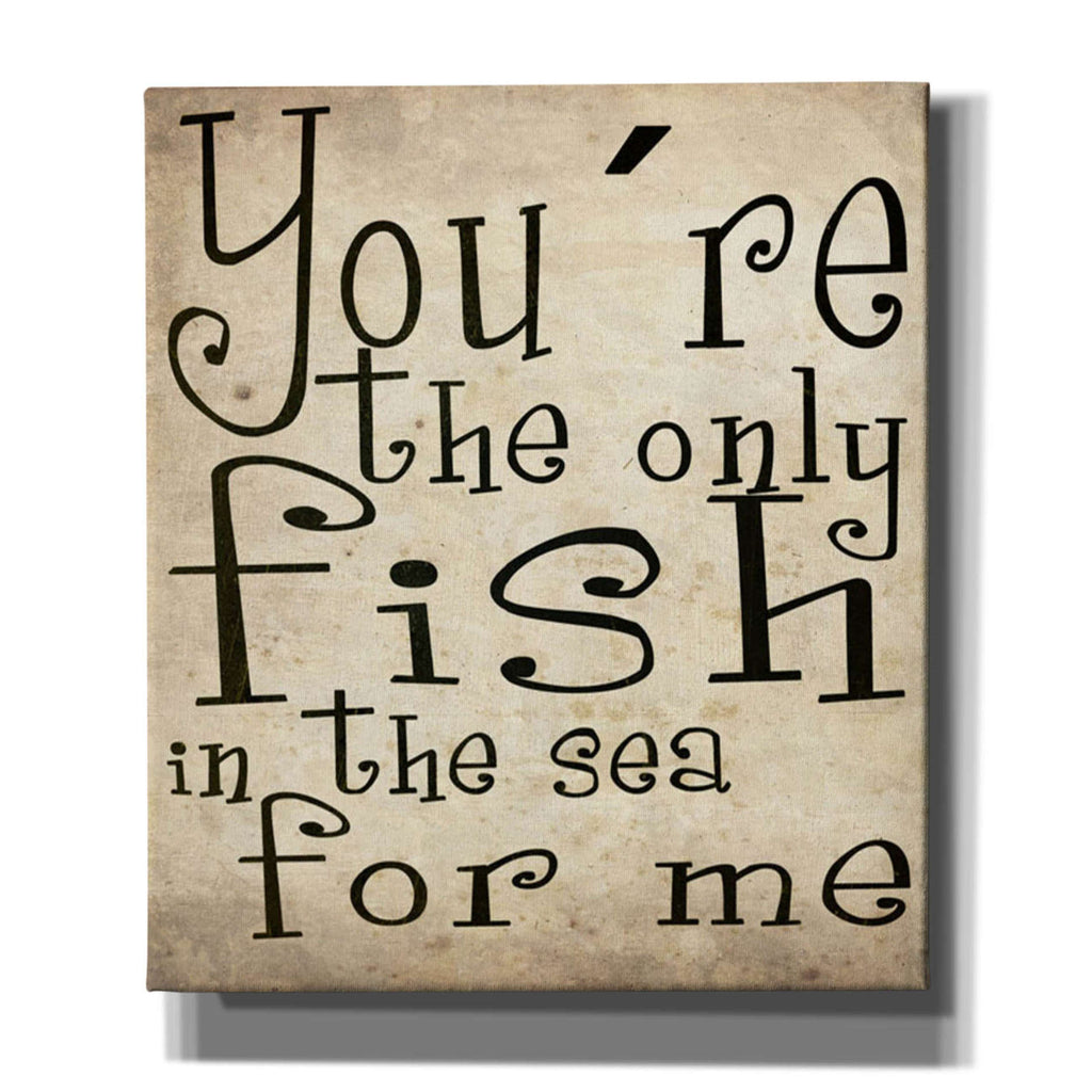 "Cortesi Home ""You're The Only Fish In The Sea"" by Nicklas Gustafsson, Giclee Canvas Wall Art"