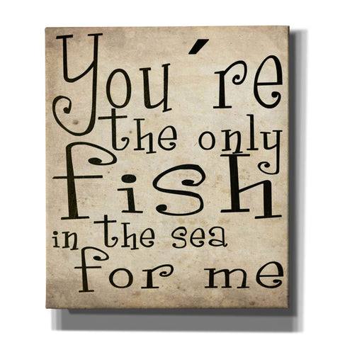 "Image of Cortesi Home ""You're The Only Fish In The Sea"" by Nicklas Gustafsson, Giclee Canvas Wall Art"