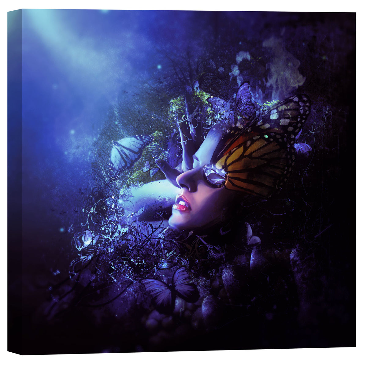 "Cortesi Home ""Last Travel of the Butterflies"" by Mario Sanchez Nevado, Giclee Canvas Wall Art"