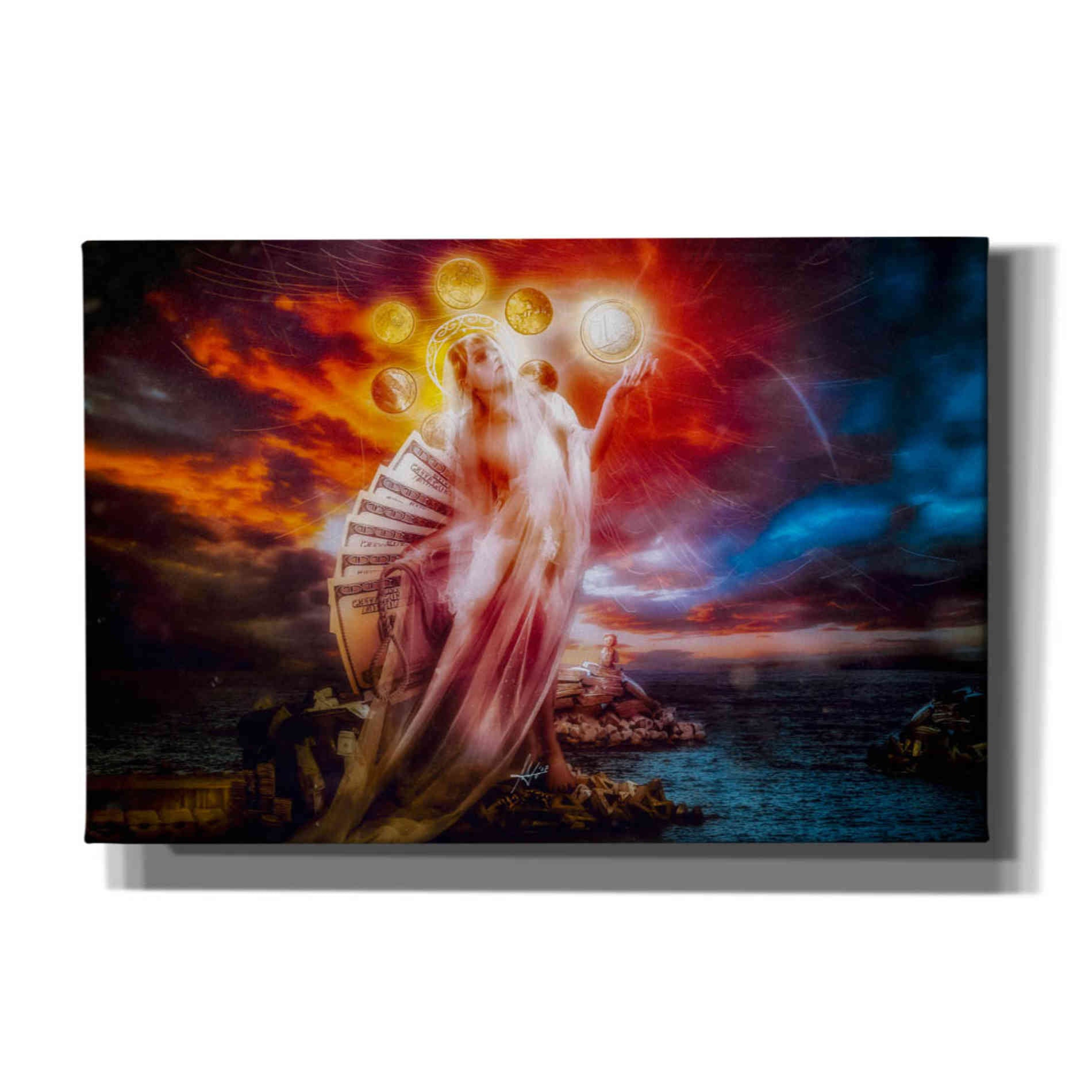 Cortesi Home 'St. Mary of Coins' by Mario Sanchez Nevado, Canvas Wall Art,Size A Landscape