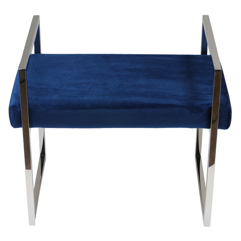 Image of Cortesi Home Anna Contemporary Velvet Bench, Blue