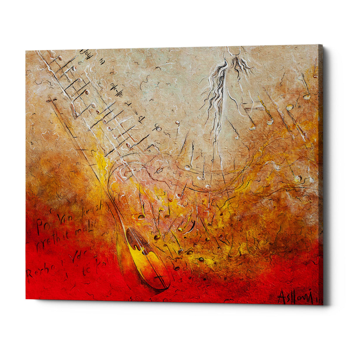 "Epic Graffiti ""Song of Rexha"" by Samedin Asllani, Giclee Canvas Wall Art"