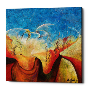 "Epic Graffiti ""The Kiss"" by Samedin Asllani, Giclee Canvas Wall Art"