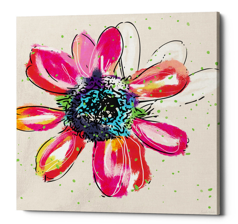 "Epic Graffiti ""Colorful Daisy"" by Linda Woods, Giclee Canvas Wall Art, 12""x12"""