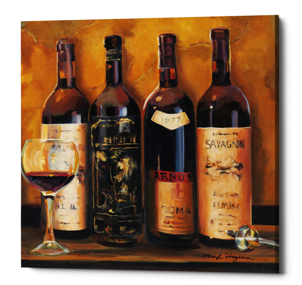 "Epic Graffiti ""Cellar Reds"" by Marilyn Hageman, Giclee Canvas Wall Art, 12""x12"""