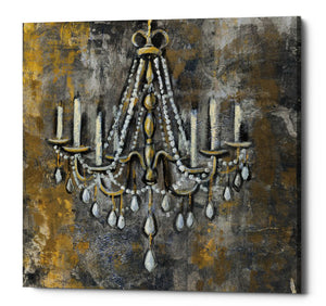 "Epic Graffiti ""Vintage Chandelier II"" by Silvia Vassileva, Giclee Canvas Wall Art, 12""x12"""
