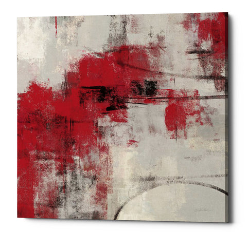"Epic Graffiti ""Stone Gardens II Red"" by Silvia Vassileva, Giclee Canvas Wall Art, 12""x12"""