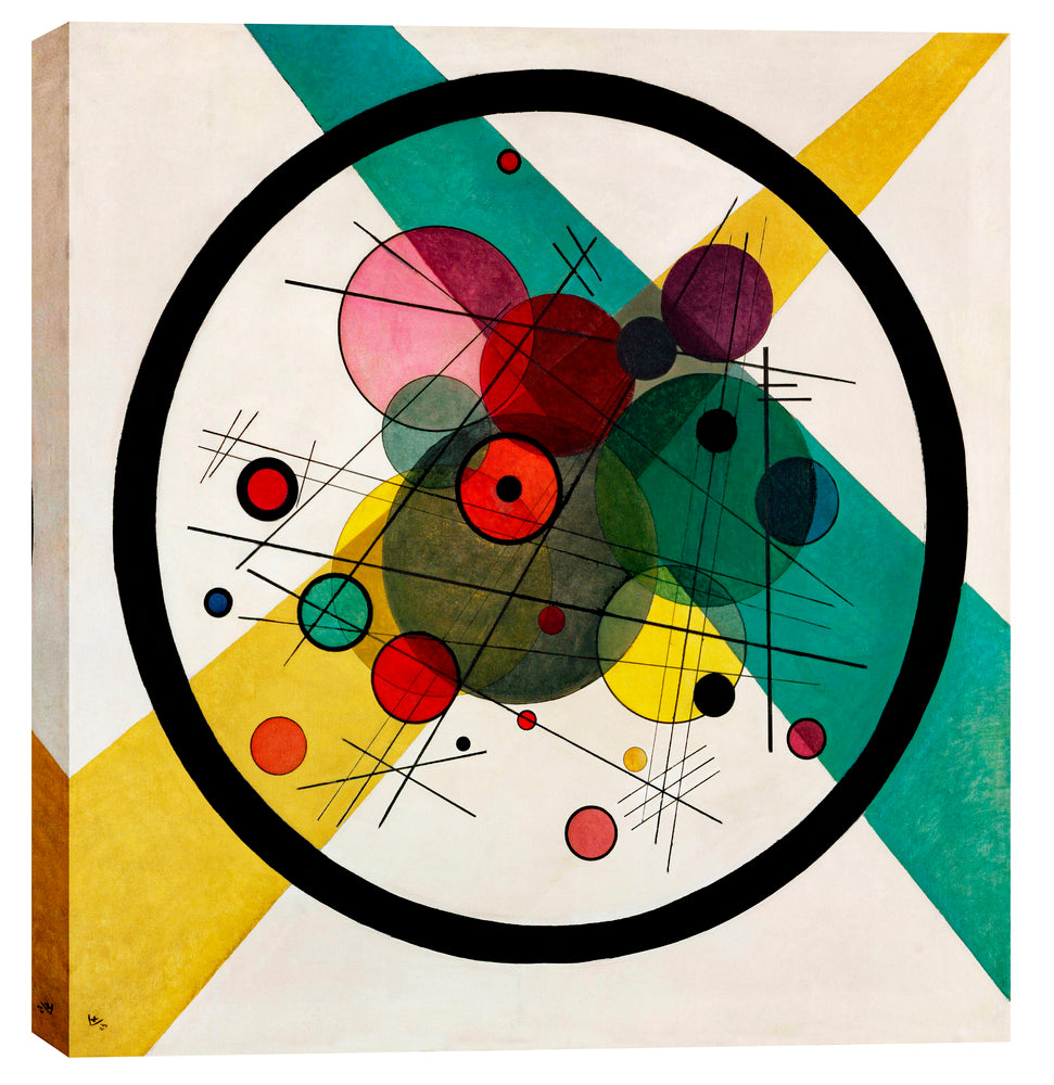 "Epic Graffiti ""Circles In A Circle"" by Wassily Kandinsky Giclee Canvas Wall Art, 12"" x 12"""