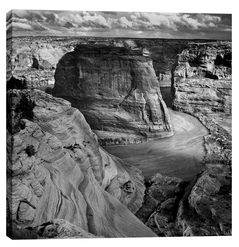 "Epic Graffiti ""Canyon de Chelly National Monument"" by Ansel Adams Giclee Canvas Wall Art, 12"" x 12"""