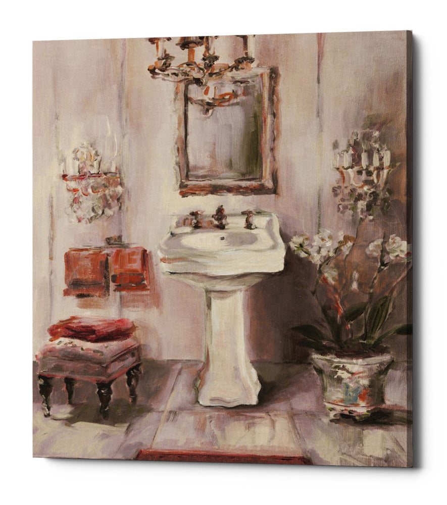 "Epic Graffiti ""French Bath III Gray and Blush"" by Marilyn Hageman, Giclee Canvas Wall Art, 12""x16"""