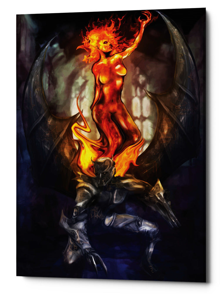 "Epic Graffiti ""Final Angel"" by Michael Stewart, Giclee Canvas Wall Art, 12""x16"""