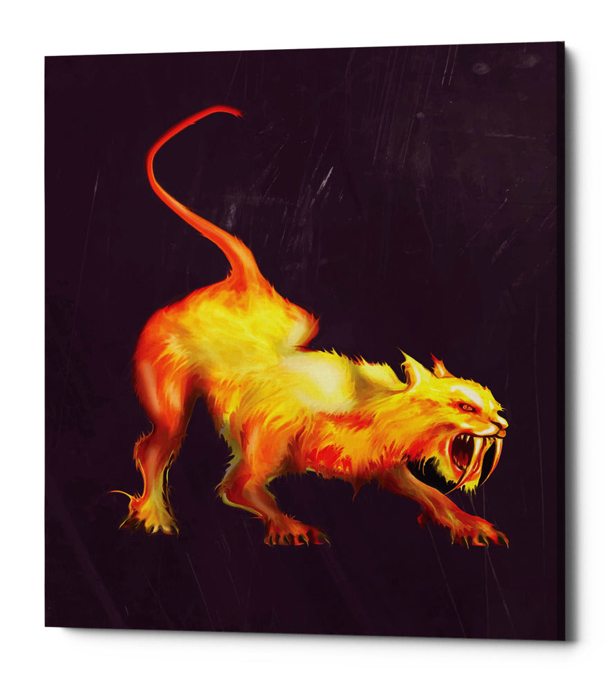 "Epic Graffiti ""Saber Tooth"" by Michael Stewart, Giclee Canvas Wall Art, 12""x16"""