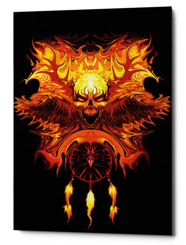 "Epic Graffiti ""Wendigo"" by Michael Stewart, Giclee Canvas Wall Art, 12""x18"""