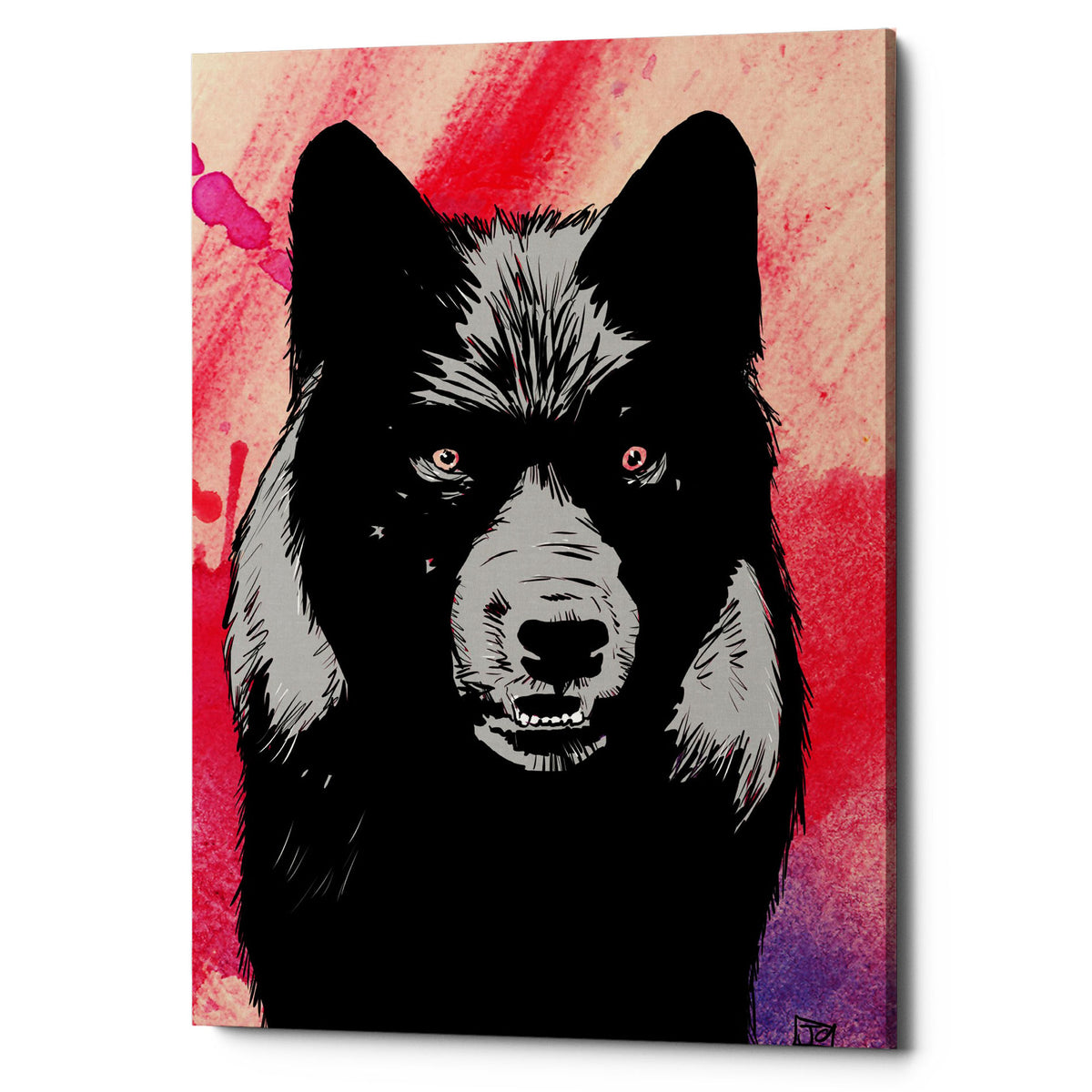 "Epic Graffiti ""Wolf"" by Giuseppe Cristiano, Giclee Canvas Wall Art, 12""x18"""