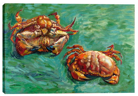"Epic Graffiti ""Two Crabs"" by Vincent Van Gogh Giclee Canvas Wall Art, 12"" x 18"""