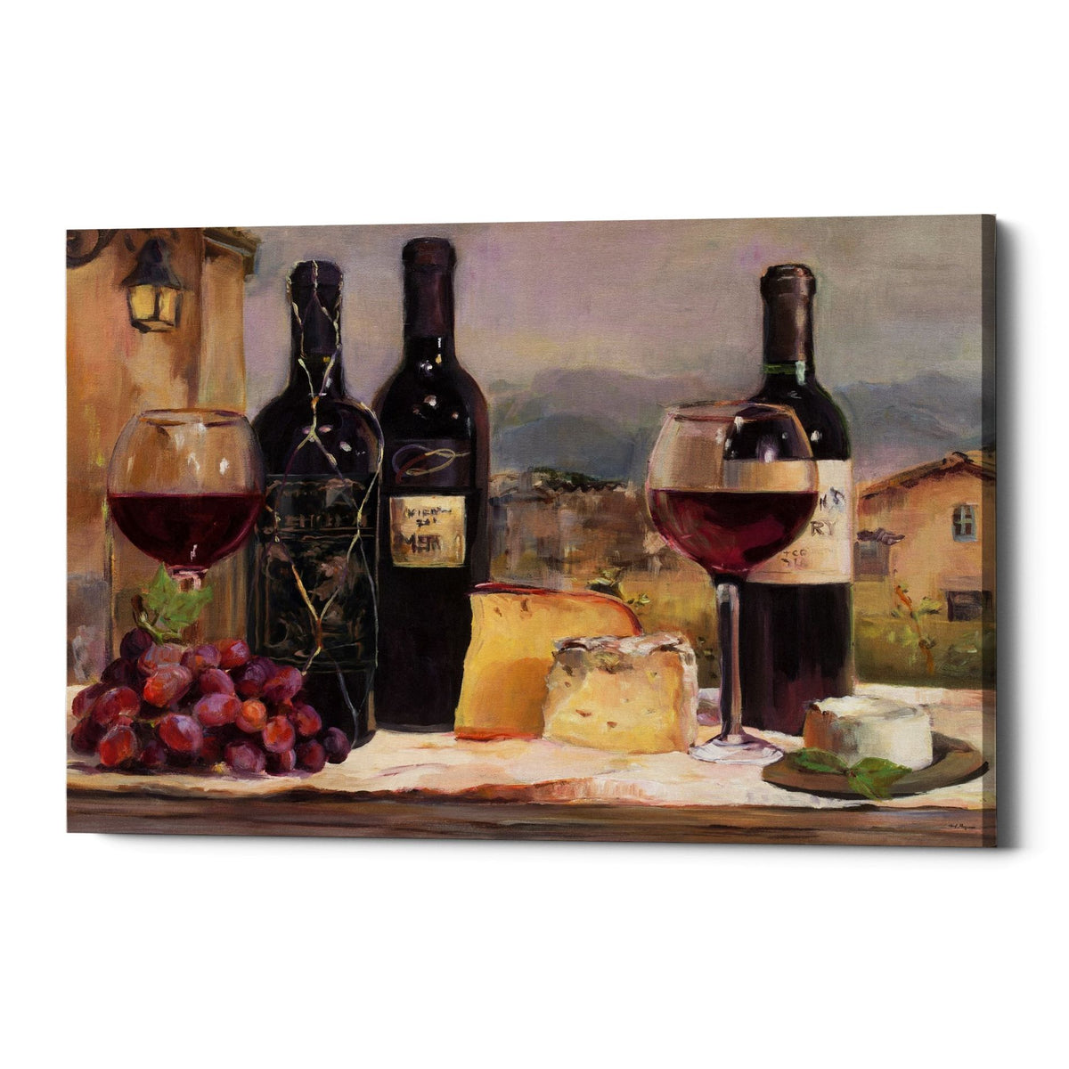 "Epic Graffiti ""Les Vins Maison"" by Marilyn Hageman, Giclee Canvas Wall Art, 12""x18"""