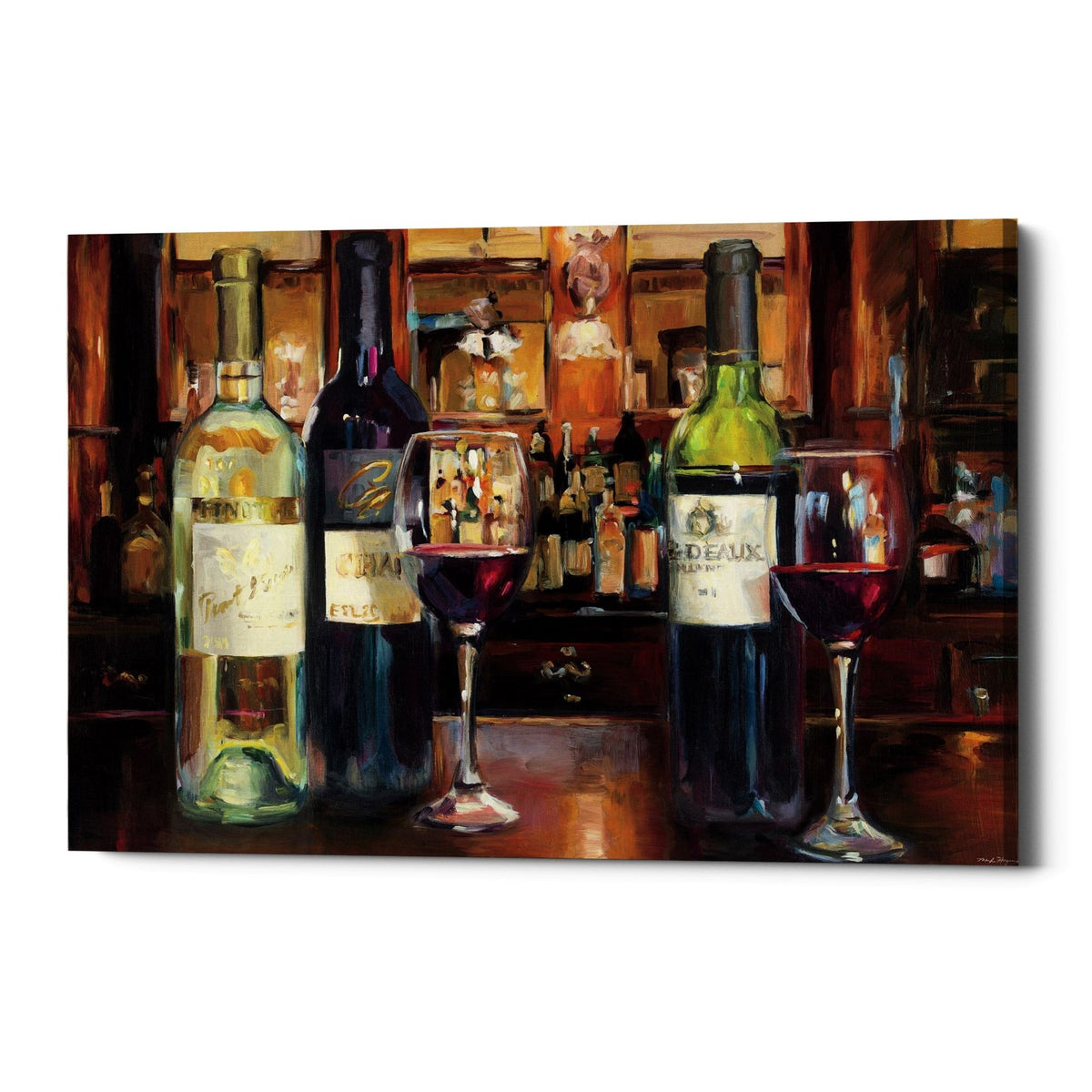"Epic Graffiti ""A Reflection of Wine"" by Marilyn Hageman, Giclee Canvas Wall Art, 12""x18"""