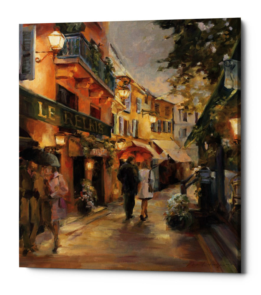 "Epic Graffiti ""Evening in Paris"" by Marilyn Hageman, Giclee Canvas Wall Art, 16""x18"""