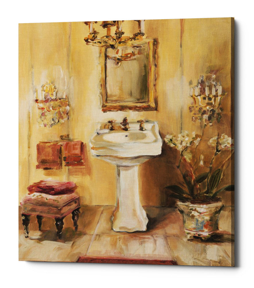 "Epic Graffiti ""French Bath III"" by Marilyn Hageman, Giclee Canvas Wall Art, 16""x18"""