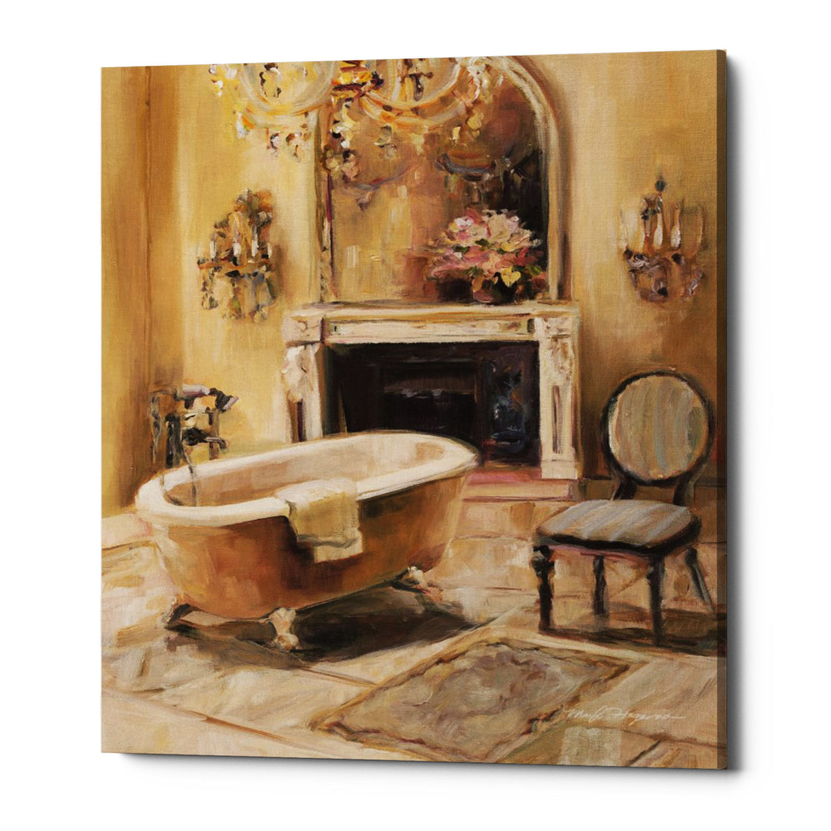 "Epic Graffiti ""French Bath I"" by Marilyn Hageman, Giclee Canvas Wall Art, 16""x18"""