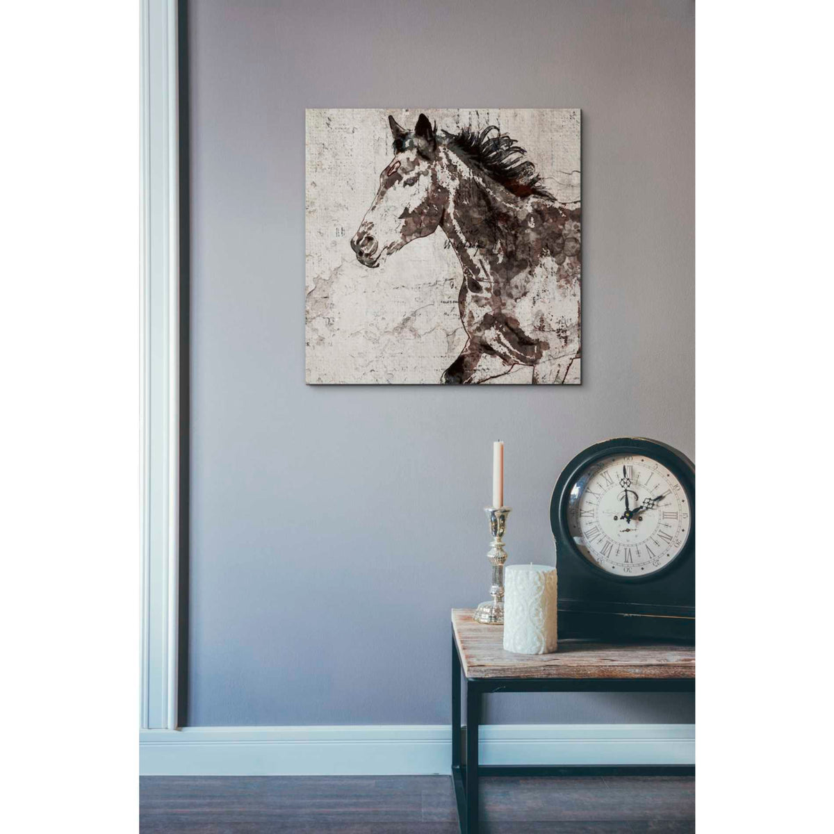 Epic Graffiti 'Galloping Horse 2' by Irena Orlov, Giclee Canvas Wall Art
