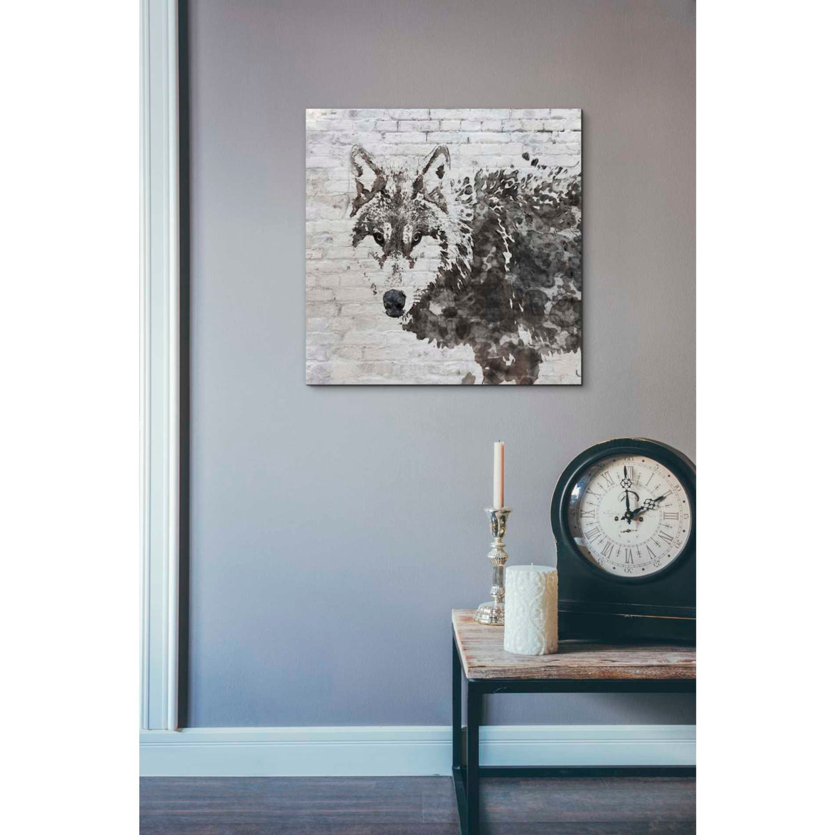 Epic Graffiti 'Lone Wolf' by Irena Orlov, Giclee Canvas Wall Art